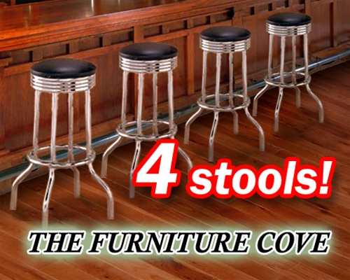 Fabulous 4 Chrome Black Commercial Strong Swivel Restaurant Barstools 24 Alphanode Cool Chair Designs And Ideas Alphanodeonline