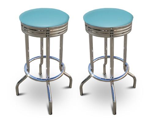 Peachy 2 24 Baby Blue Vinyl Specialty Custom Barstools Set Evergreenethics Interior Chair Design Evergreenethicsorg
