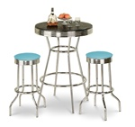 barstools chrome table black white round bar stools stool swivels foot rest ring cushion seat cave man chair chairs diner metal dining finish pad padded pub pubstools restaurant