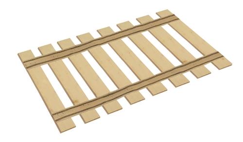 Full Size Bed Slat Black Stripe Burlap Straps