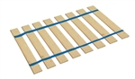 Full Size Custom Width Bed Slats with Blue Straps