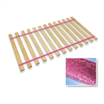 Full Size Attached Bed Slats - Bunkie Boards (Pink Glitter Straps)