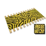 NEON YELLOW Zebra Faux Fur Fabricp Full Size Bed Slats Support / Bunkie Board