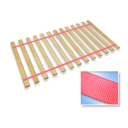 Neon Hot Pink Strap Full Size Bed Slats Support / Bunkie Board