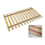Burlap Strap Full Size Bed Slats Support / Bunkie Board