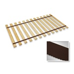 Brown Strap Twin Size Bed Slats Support / Bunkie Board