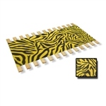 NEON YELLOW Zebra Faux Fur Fabric Burlap Strap Twin Size Bed Slats Support / Bunkie Board