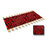 RED-BLACK Burlap Strap Twin Size Bed Slats Support / Bunkie Board