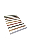 Custom Made in the U.S.A.! Youth Size Stained Wood Bed Slats with your choice of colored Strapping - Cut to the Width of Your Choice