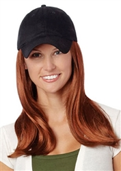 Long Hat Black Hairpieces by Henry Margu Wigs