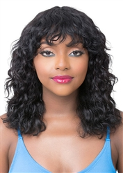 Human Hair Wet N Wavy Natural Deep Water Wigs