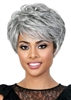 Short Grey Wigs | Synthetic Wigs for Black Women