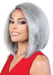 Long Silver Synthetic Wigs