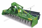 "Power Harrow & Mesh Roller: Valentini PR2500, 101"", 80-120HP: Best Specifications & Features! Quick Hitch Compatible, Leveling Bar, 11 Rotors-22 Blades"