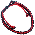 RED AND BLACK SMOOTHE SLIP KNOT BRACELET
