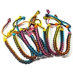 WOVEN VARIEGATED RAINBOW THREAD BRACELET