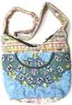 "SHOULDER BAG (9""x6.5"") MADE FROM TRADITIONAL GUATEMALAN MAYAN INDIAN BLOUSES"