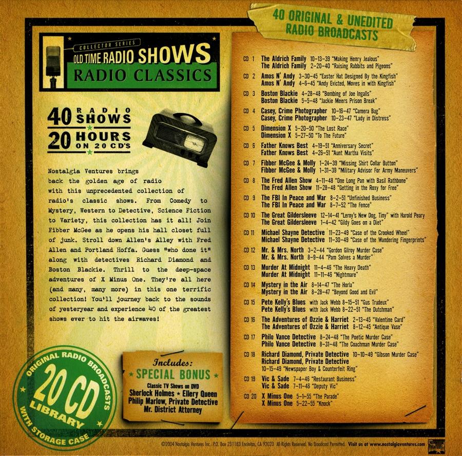 Radio Classics - 20 hours [Audio CDs] #2003