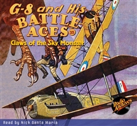 G-8 and His Battle Aces Audiobook # 25 Claws of the Sky Monster