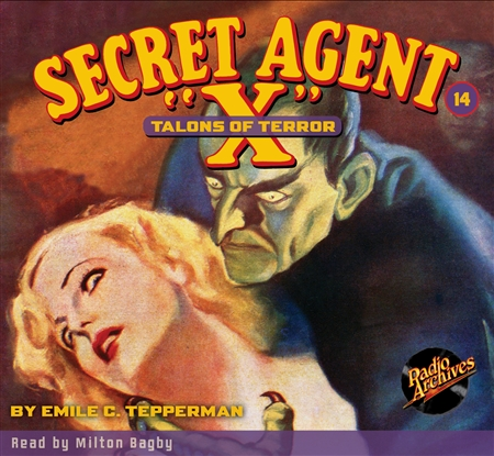 "Secret Agent ""X"" Audiobook - #14 Talons of Terror"