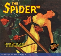 The Spider Audiobook - #113 Secret City of Crime