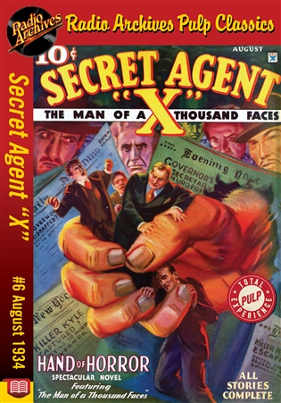 "Secret Agent ""X"" eBook #6 Hand of Horror"