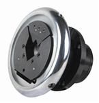 Replaceable Insert Type Safety Chuck pair - Flange Mounted - 45 Degree Entry - 38mm square pocket - Ø35mm mounting shaft (FLO/W35 VT2 Series)