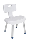 Shower Chair with Folding Back