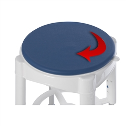 Shower Stool with Padded Rotating Seat
