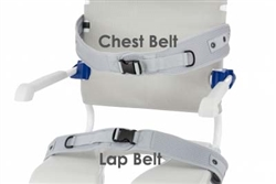 Four inch Padded chest belt for Aquatec Ergo Shower Chair