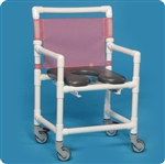 Midsize Open Front Soft Seat Shower Chair