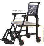 Seatara Bathmobile Commode & Shower Chair