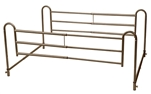 Tool-Free Adjustable Length Home-Style Bed Rail