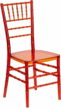 Flash Elegance Crystal Crimson Stacking Chiavari Chair