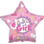 """It's a Girl"" Girl Foil Balloon"