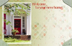"""Welcome To Your New Home"" : Red door (Pack of 50 enclosure cards)"