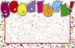 """Good Luck"" : Rainbow confetti (Pack of 50 enclosure cards)"