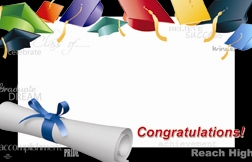"""Congratulations"" : Diploma with flying hats (Pack of 50 enclosure cards)"