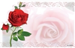 Red rose (Pack of 50 enclosure cards)