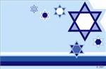 Blue with contemporary Star of David motif (Pack of 50 enclosure cards)