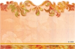 Orange with copper flourish border(Pack of 50 enclosure cards)