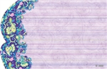 Lavender with purple paisley border(Pack of 50 enclosure cards)