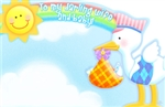 """To My Darling Wife And Baby"" : Stork, Sun & Rainbow (Pack of 50 enclosure cards)"