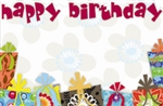 """Happy Birthday"" : Presents w/ sentiment cutout (Pack of 50 enclosure cards)"