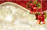"""Merry Christmas"" : Ivy bells with red bows (Pack of 50 enclosure cards)"
