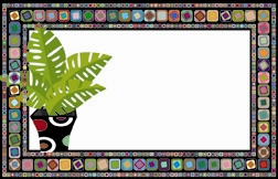 Retro green plant (Pack of 50 enclosure cards)