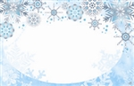Winter seasonal snowflakes (Pack of 50 enclosure cards)