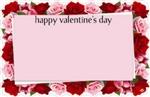 """Happy Valentine's Day"" : Roses die-cut border (Pack of 50 enclosure cards)"