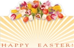 """Happy Easter"" : Tulip sunrise (Pack of 50 enclosure cards)"