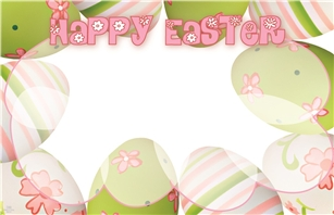 """Happy Easter"" : Painted Eggs (Pack of 50 enclosure cards)"